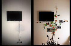 Как спрятать провода от телевизора   MyCoziness.ru