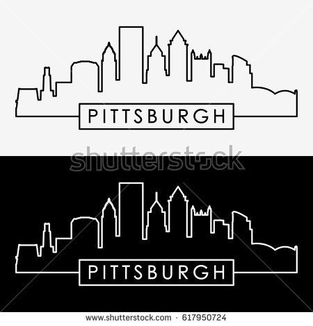 Image result for pittsburgh skyline line drawing