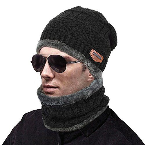 7cb6b007b02 Chic muco Womens Mens Winter Hat Warm Thick Beanie Cap Scarf for Winter  Knit Ski Beanies.   11.98 - 12.98  nanaclothing from top store