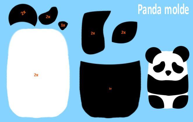 DIY – Carteira Panda + porta celular + segura fone de Feltro ( Sem Costura)