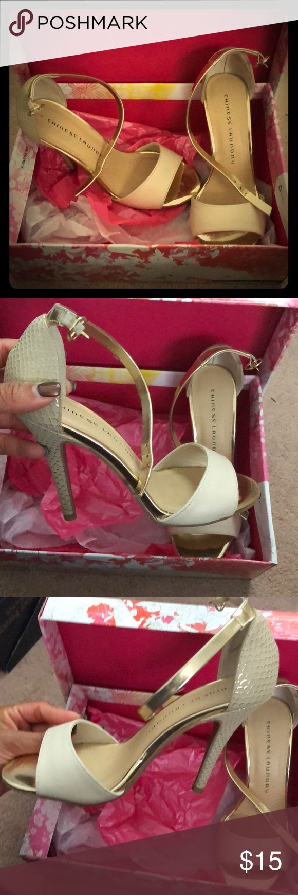 Chinese Laundry Lucky Charm Heels (off white) Chinese Laundry Lucky Charm Heels (off white). Good condition. Shoes Heels