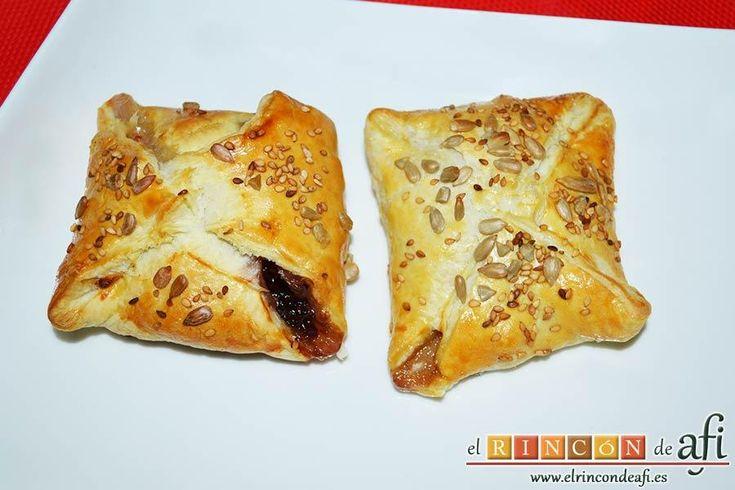 Pañuelos de hojaldre con jamón o pechuga | Cocinar en casa es facilisimo.com