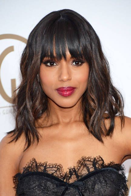 Kerry Washington Hair - Kerry Washington Red Carpet Hairstyles - ELLE