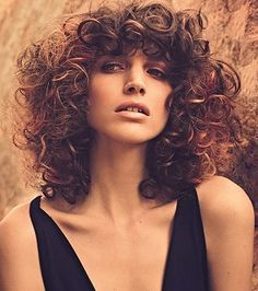 short hair curly styles fringe - Pesquisa Google