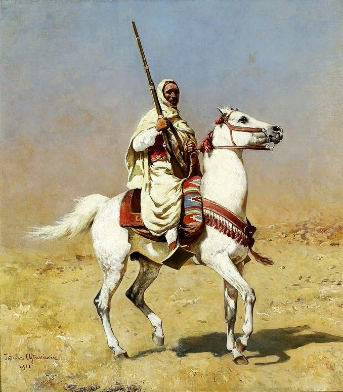 https://upload.wikimedia.org/wikipedia/commons/7/73/Ajdukiewicz_Arab_on_a_gray_horse.jpg
