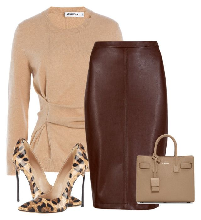 Untitled #314 by the-luxurious-glam on Polyvore featuring polyvore, fashion, style, Jil Sander, M&S Collection, Casadei, Yves Saint Laurent and clothing