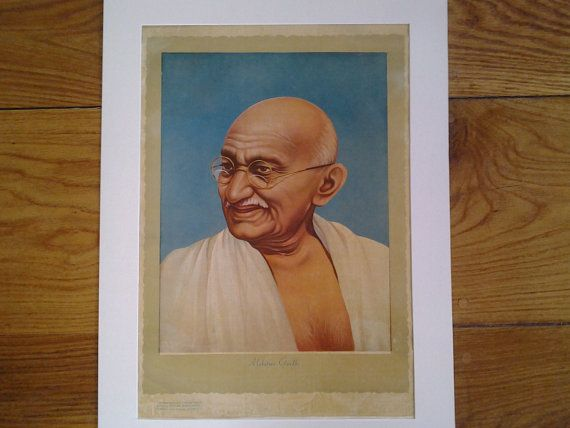 Original antique authentic 1947 print poster picture by Lallibhai, £45.00