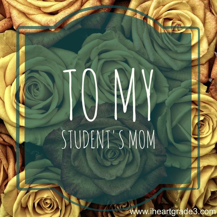 To My Student's Mom:  A Mother's Day Letter