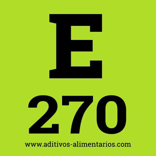 E270 - Ácido Láctico