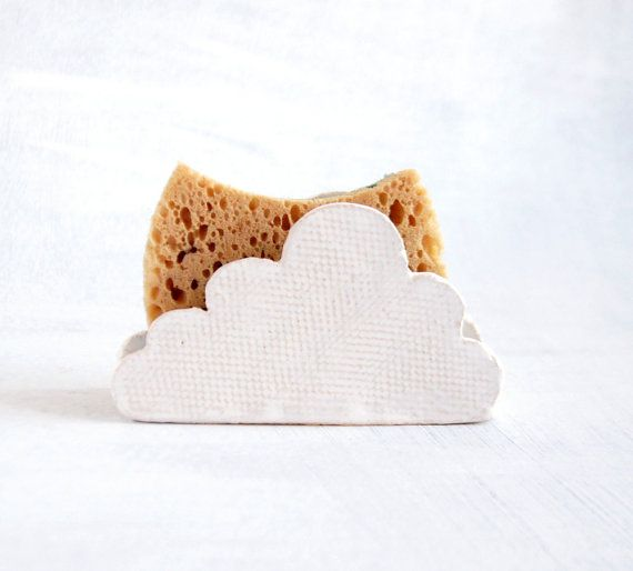 Cloud Sponge Holder-Napkin Holder-Ceramics And Pottery