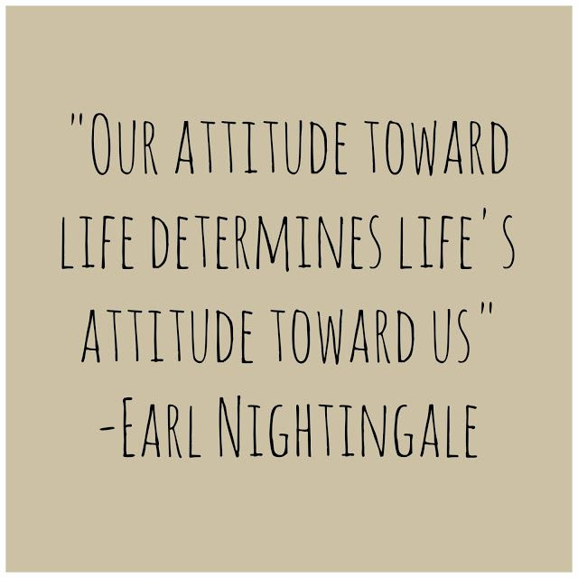 Great quote on attitude!