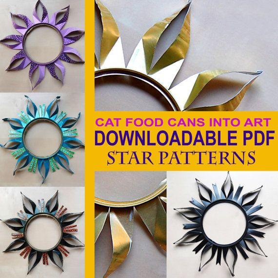 Can Cutting Instructional PDF. How to cut cat food cans into star pattern by Martha F. Walton, $2.50