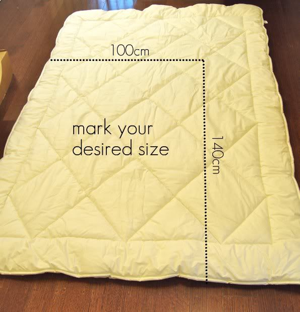 How To: Make a Toddler size Duvet from a single bed Duvet