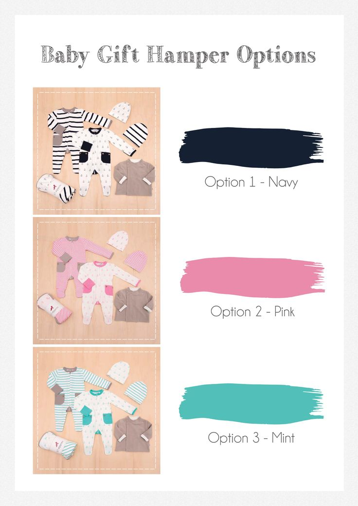 Li'l Zippers: Baby Gift Hampers Colours: Navy, Pink & MInt.  What's Included: 1 stripe romper 1 anchor romper 1 reversible jacket 1 double sided blanket 2 reversible beanies 1 gift box (per size)