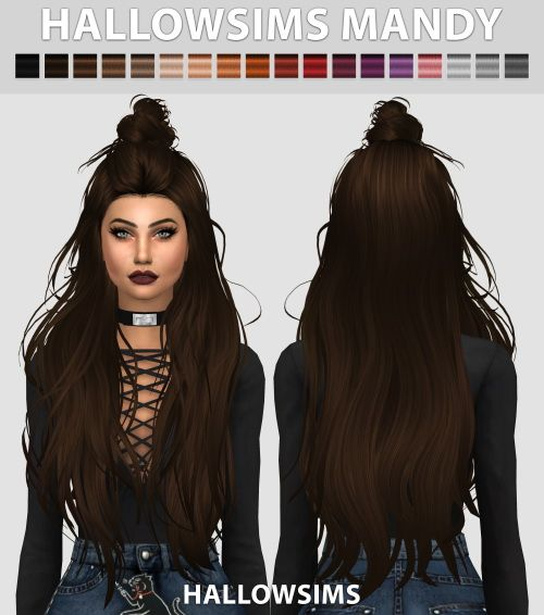 Sims 4 Updates: Hallow Sims - Hairstyles : Mandy hair conversion, Custom Content Download!