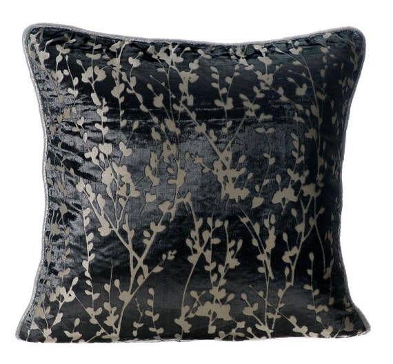 Designer Paloma Grey Pillow Cases 16x16 Burnout