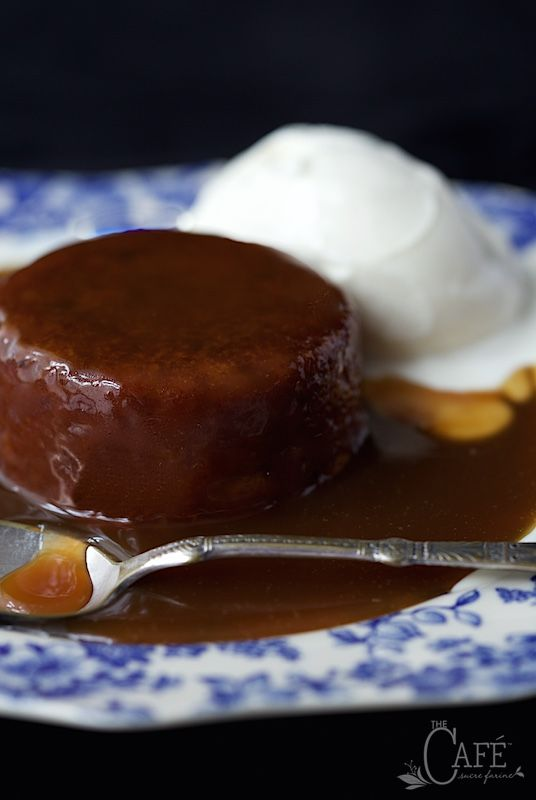 Sticky Toffee Pudding Cake - an iconic British treat that is beyond delicious. The cake is moist and full of flavor. The buttery toffee sauce is super easy to make.