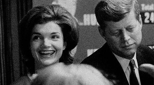 Jackie and Jack Kennedy the night of the 1960 Wisconsin Democratic Primary
