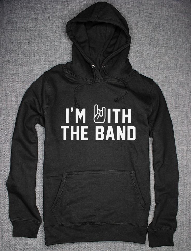 I'm With The Band Hoodie (19.50 GBP) by ResilienceStreetwear