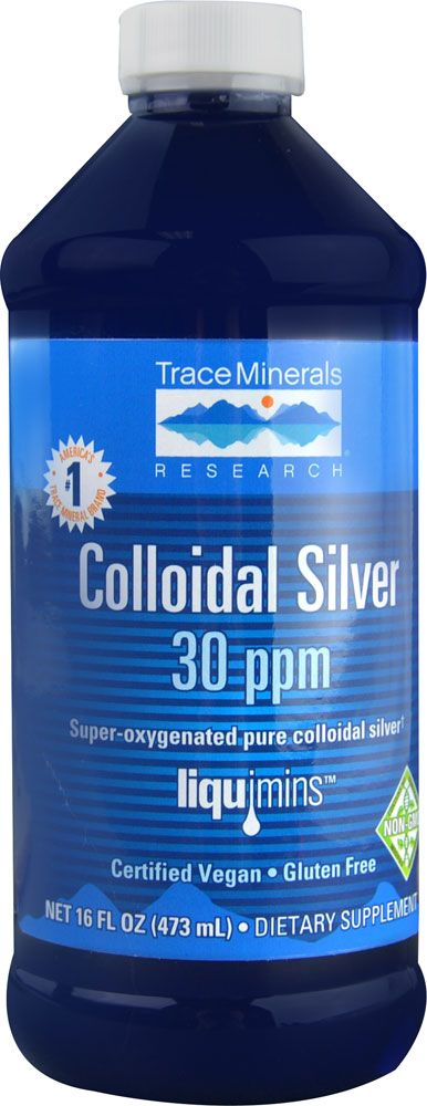 Trace Minerals Research Colloidal Silver 30 ppm -- 16 fl oz - Vitacost