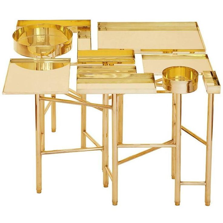 OCD Collection, Brass Side Table   From a unique collection of antique and modern side tables at https://www.1stdibs.com/furniture/tables/side-tables/
