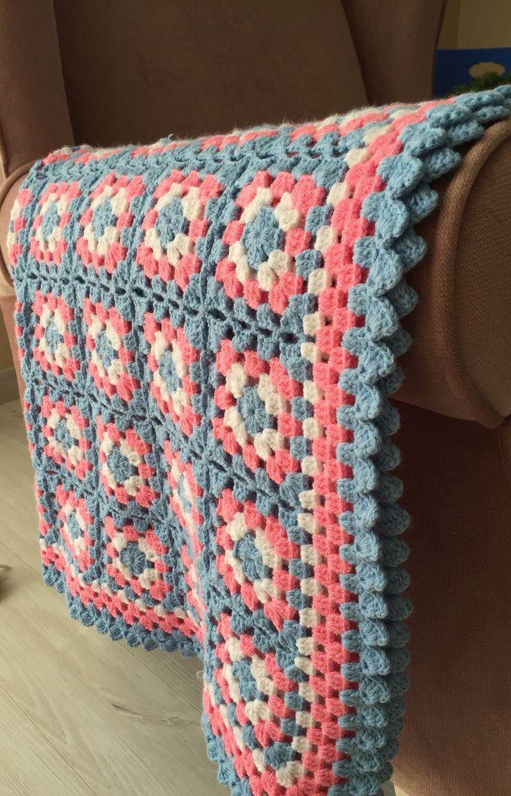 Granny square. Diz battaniyesi. Koltuk şalı. Örgü. Crochet.