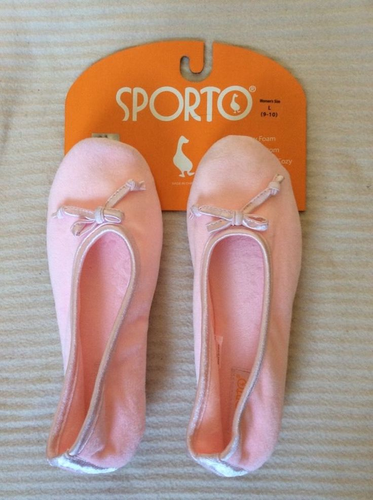 SPORTO Ladies slippers L US9-10, UK about 7, about:10.5  or 27cm BNWT Pink
