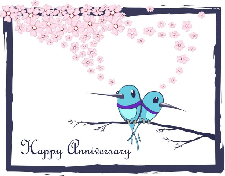 HappyAnniversary Wishes (Życzenia) Pinterest Cartoon, Happy   Printable Anniversary  Cards Free Online  Print Anniversary Card