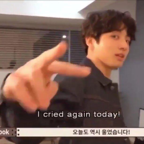 Jungkook Really Is Peak Gen Z Bts Memes Crying Meme Bts Face