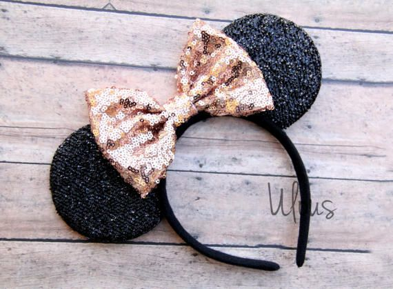 Gold Mickey Ears Sparkly Mickey Ears Rose Gold Minnie Ears