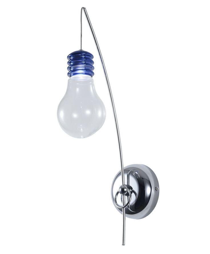 Kinkiet Zuma Line Bulbo w postaci ozdobnej, nagiej żarówki z pewnością przypadnie do gustu osobom ceniących sobie niebanalne rozwiązania. Dzięki prostej konstrukcji będzie pasować do każdego wnętrza zastępując tradycyjne oświetlenie.