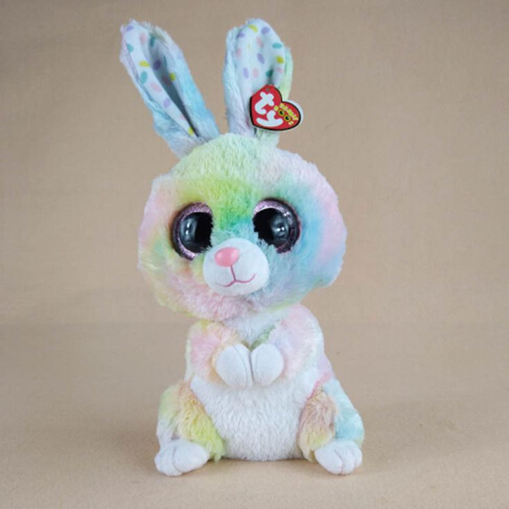 28cm Kawaii Colorful Ty Beanie Boos Big Eyes Rabbit Plush Soft Stuffed Animals Toys For Kids Gifts