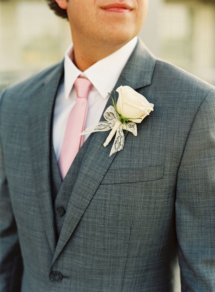 Grey Groomsmen with Light Pink Ties. Photography by Virgil Bunao Fine Art Weddings, Event Planning and Floral Design by Soiree.