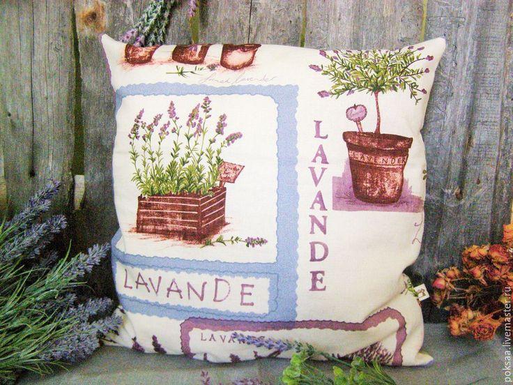 """Купить Декоративные подушечки"""" Травы Прованса-Лаванда"""" - разноцветный, лаванда, прованс, деревня, декоративные подушки"""