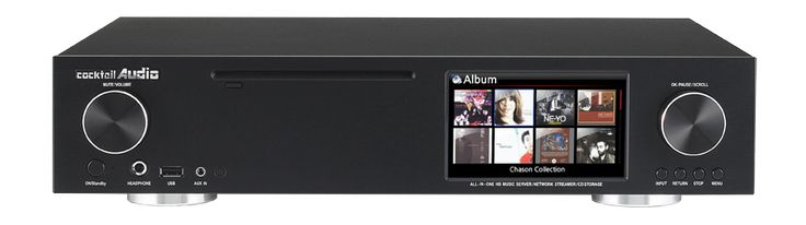 Cocktail Audio - X30 - All-In-One HiFi Audio System with Music Server/Network Streamer/CD Storage Ripper/Amplifier