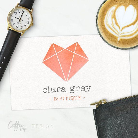 Fuchs Logo Geometric Blog Logo Business Logo von CoffeeandInkDesign