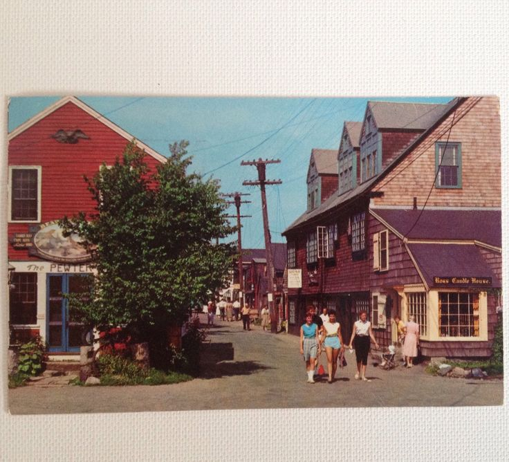 Vintage Postcard Rockport MA 1957 Bearskin Neck Massachusetts Curt Teich  Post Card by aroundtheclock on Etsy