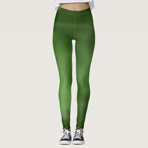 Leggings with abstract Green Flow Design