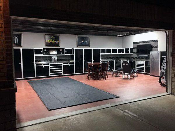 50 Man Cave Garage Ideas Modern To Industrial Designs Garage Design Interior Garage Interior Garage Decor