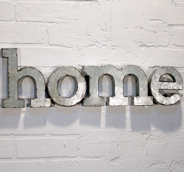 Metal Word Wall Art | Home Letters