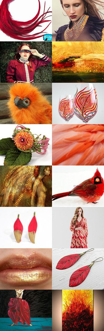Rise like a phoenix by Viktoria Schuster on Etsy-- Pinned+with+TreasuryPin.com  amber autumn bird boho emotional feather fire flame gold hot orange phoenix reborn red rise ruby strong transform
