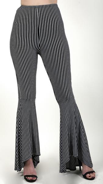 b43f78ff16 Striped Flare Bottom Pants