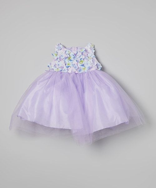 Take a look at the Lilac Flower Patch Tulle Dress - Infant, Toddler & Girls on #zulily today!
