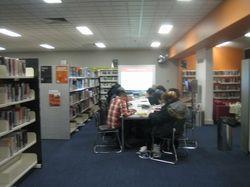 Amra Pajalic at 2013 Brimbank LIterary Festival, running creative writing workshop at St Albans library