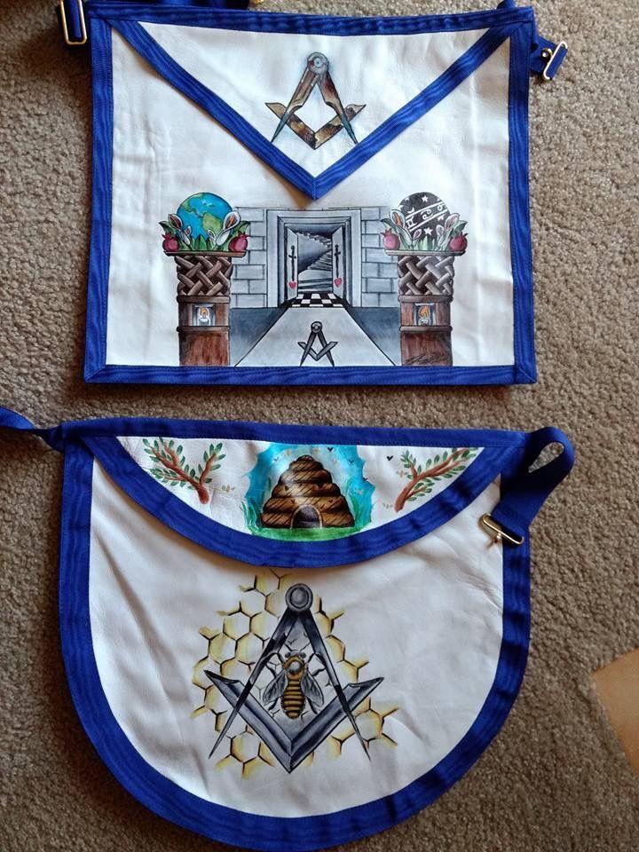 Hand painted #masonic aprons #freemasonry •ⓜᎪsᎾᏁ ᏆᏒᎽsᏆ