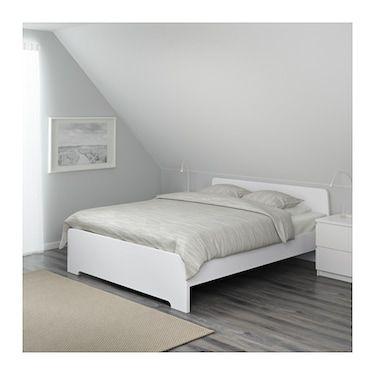 Askvoll Bed Frame White Luroy Ikea Bed Frame Ikea Bed Frames
