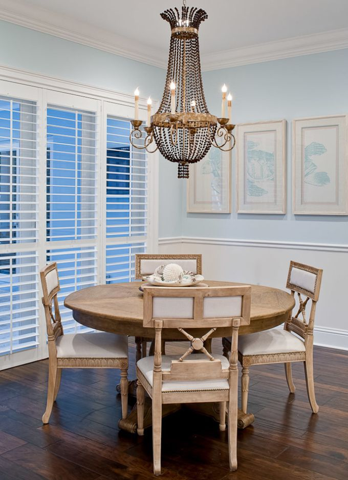 Color Palette Chandelier Equals Bliss House Of Turquoise Coastal Dining RoomsDelray BeachHouse