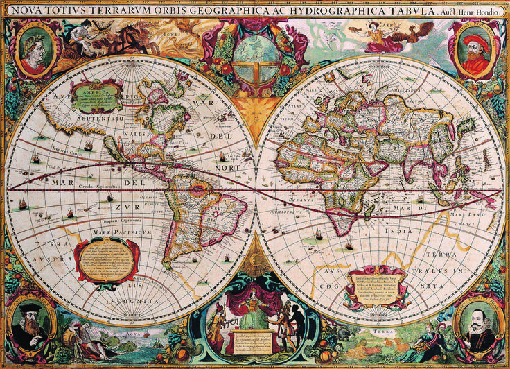 10 best contemporary and antique maps flags images on pinterest eurographics new and accurate map of the world 1000 piece puzzle this magnificent antique gumiabroncs Images