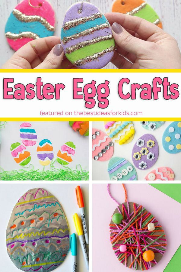 Easter Egg Crafts - so many fun ideas! Easter Egg Crafts for Kids | Easter Egg Crafts for Toddlers | Easter Egg Crafts for Preschoolers #bestideasforkids #easter #eastereggs #eastercrafts