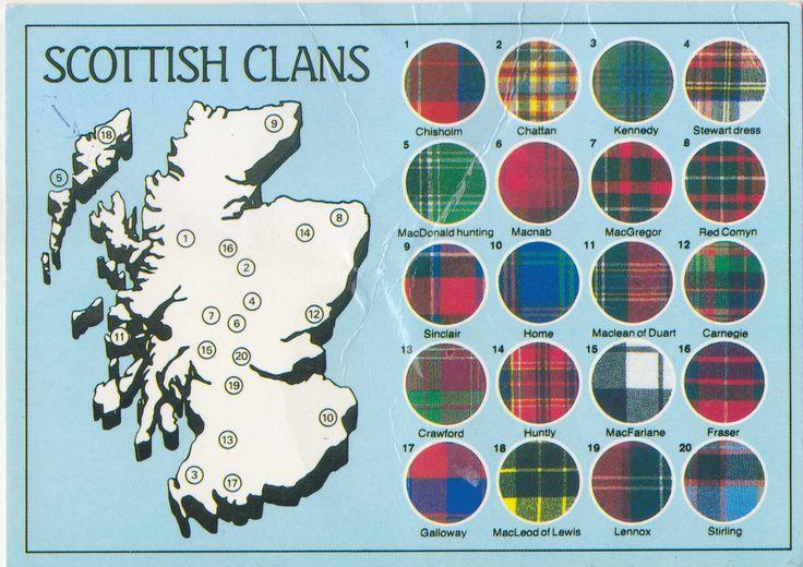 Clan Map Scotland   ... - Yes We Clan: Selected Scottish Tartans   Strange Maps   Big Think
